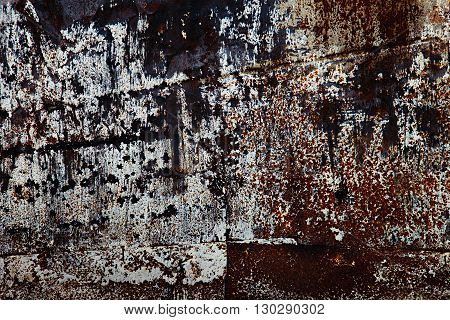 Texture of rusty metal. Vintage dark rusty background.