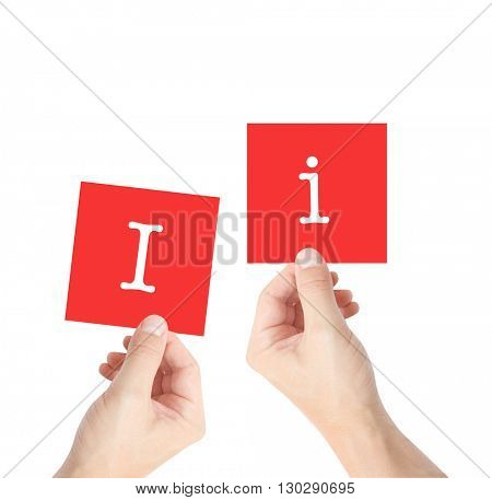 Ii written on cards held by hands