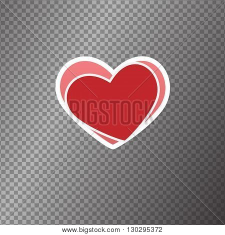Vector moder isolated  icon heart illustration  on background