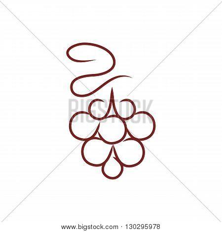 Beautiful stylized raspberry vector illustration isolated on white background.