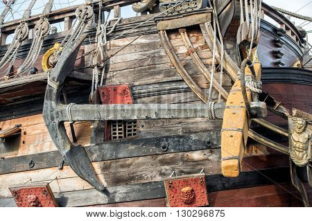 Detail Of A Pirate Vessel