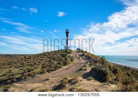 Patagonia Lighthouse Landscape In Valdes Peninsula