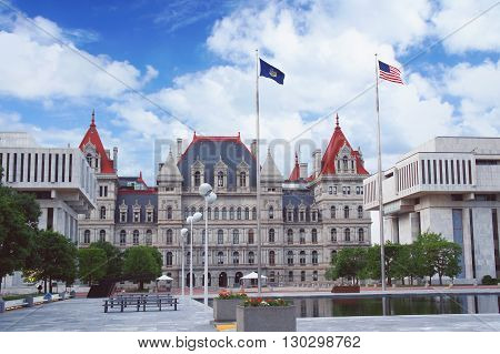 New York State Capitol in Albany, New York state capital USA