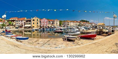 Sali village on Dugi Otok island panorama Dalmatia Croatia
