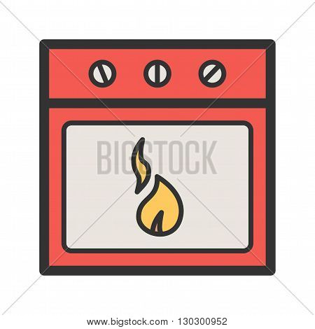 Oven, baking, stove icon vector image. Can also be used for bakery. Suitable for use on web apps, mobile apps and print media.