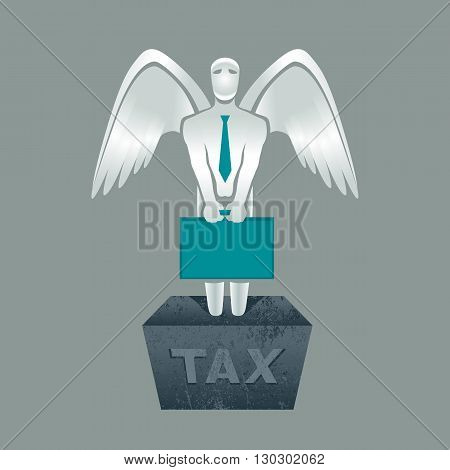 Illustration of tax obligation man with briefcase