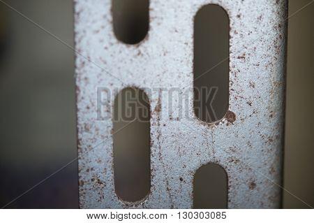 Old Metallic Shelf Close Up Macro Detail