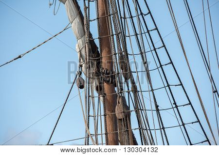 Old Vessel Sail Ship Detail