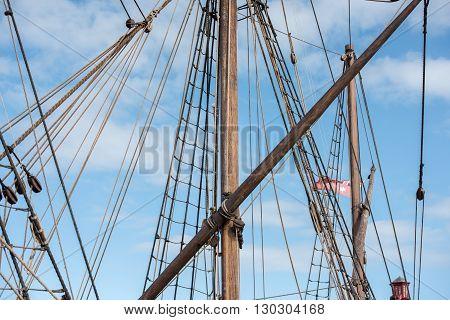 Old Vessel Sail Ship Detail