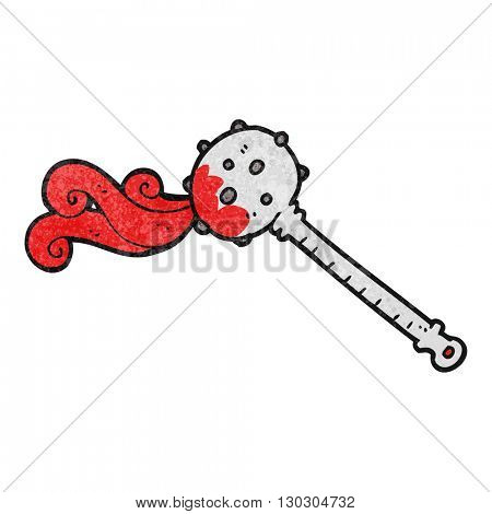 freehand drawn texture cartoon medieval mace