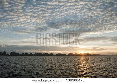 Raja Ampat Incredible Sunset In Papua