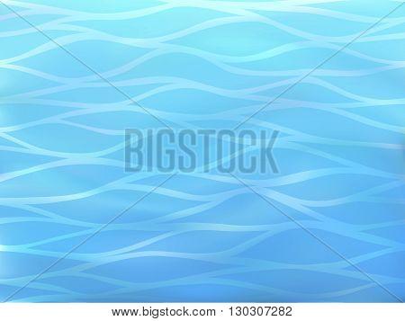 Beautiful blue background of stylized sea waves