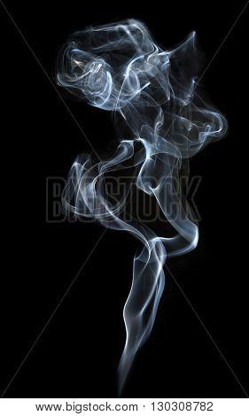 Smoke on black background. Smoke background. Smoke