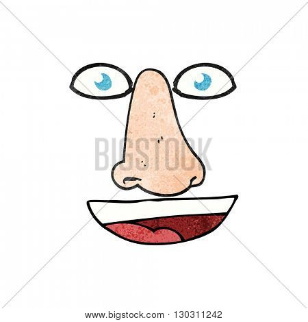 freehand drawn texture cartoon facial features