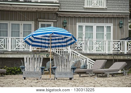 Sitting Chairs On The Beach