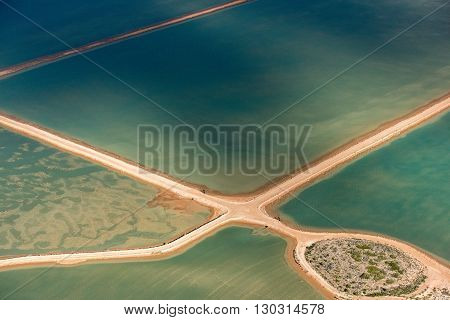 Saline Aerial View In Shark Bay Australia