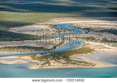 River Aerial View In Shark Bay Australia