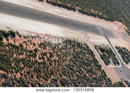 Small Desert Airport In Australia Monkey Mia