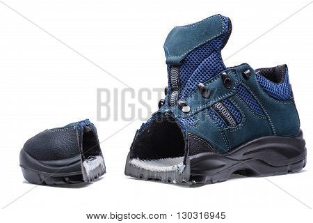 New trekking blue color boot with cut nose