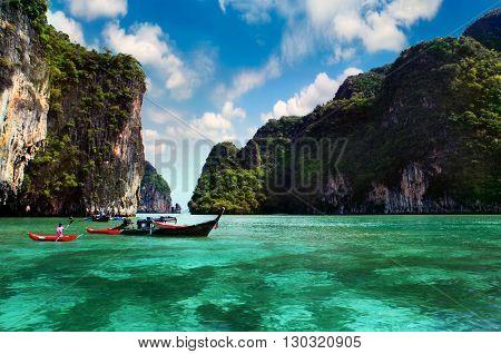 Thailand, Phi Phi Island. Hot summer day at sea