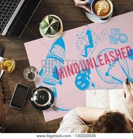 Mind Unleashed Ideas Creativity Imagination Concept