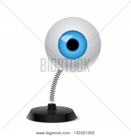 Souvenir at the spring in form eye on the white background