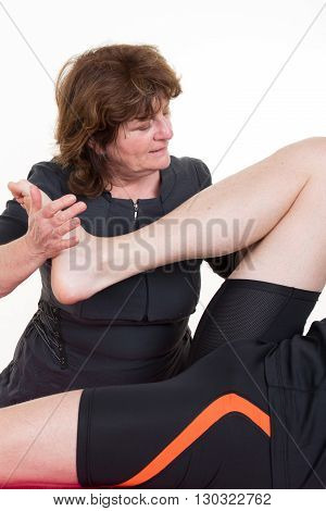 Manual, Physio And Kinesio Therapy Techniques Performed By Male Physiotherapist