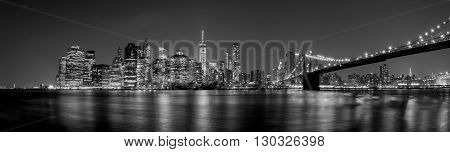 Manhattan Night View From Brooklyn