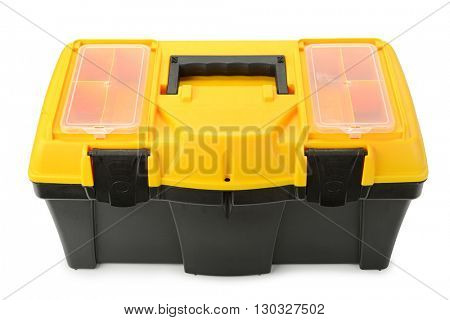 Tool box isolated on white background