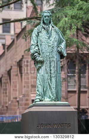 John Watts Statue In New York