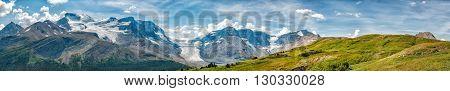 Icefield Park Glacier View Panorama