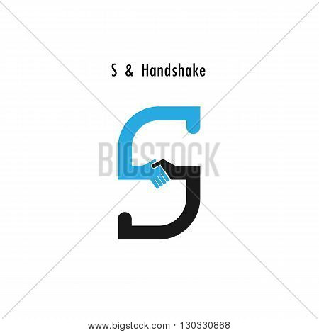 Creative S- letter icon abstract logo design vector template.Business offerpartnership icon.Corporate business and industrial logotype symbol.Vector illustration