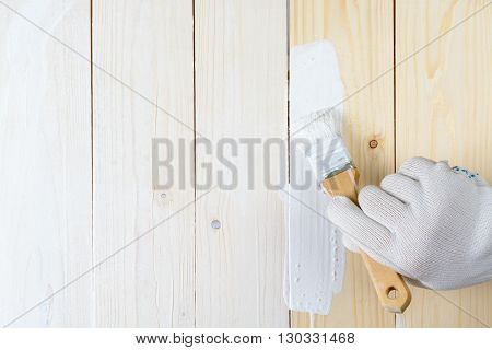 Painting Wooden Walls