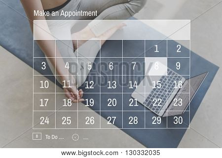 Calendar Agenda Appointment Memo Planner Concept