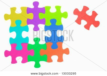 Colorful Jigzaw Puzzle