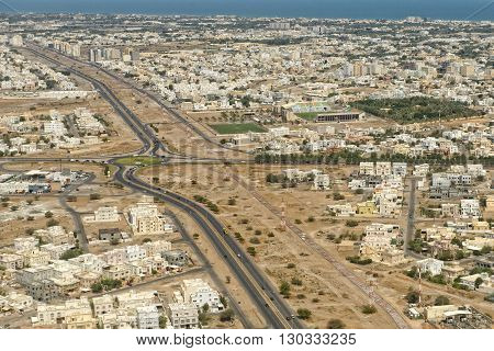Muscat Oman Sultanate Aerial View