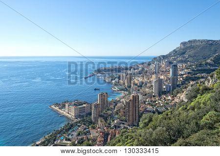 Montecarlo Monaco Panorama Landscape City View
