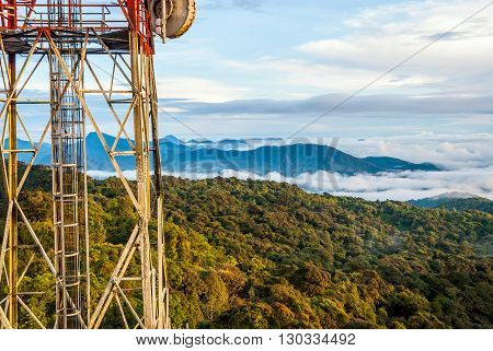 Telecomunication Tower Above The Hills