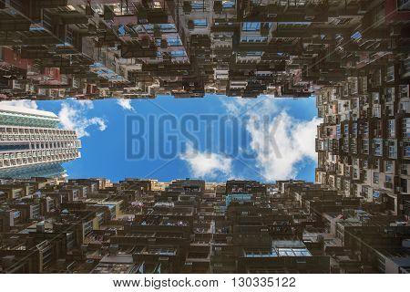 High density resident in Hong Kong China