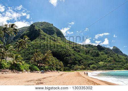 Honolulu, Usa - August, 14 2014 - People Having Fun At Hawaii Beach