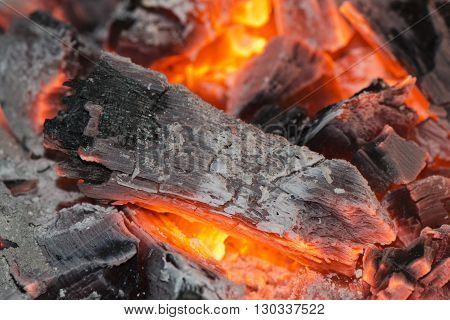 Wood Embers Detail