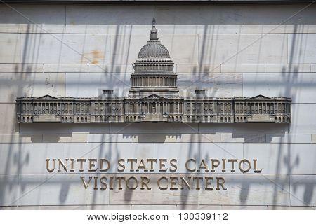 Washington Capitol Visitor Center Sign