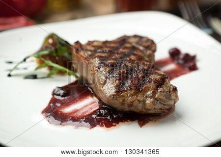 Fat, Juicy Steak Beef Thick Edge, Grain-fed , Wet Binning.