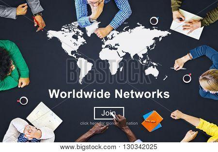 Worldwide Networks Global International Unity Concept