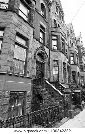 New York Harlem Buildings View