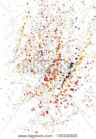 Abstract background with multicolored watercolor paint splashes