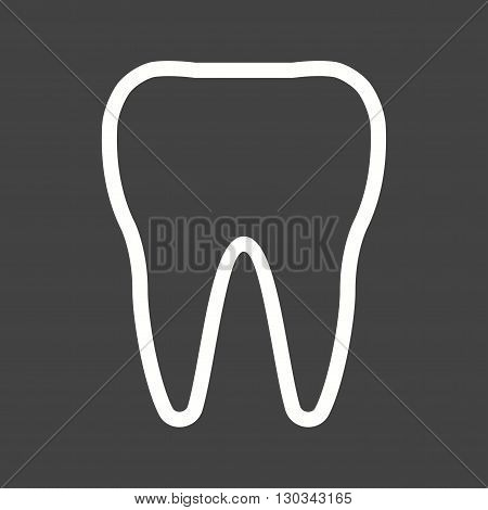 Tooth, dental, teeth icon vector image. Can also be used for human anatomy. Suitable for mobile apps, web apps and print media.
