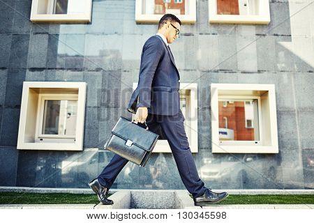 Urban life of businessman