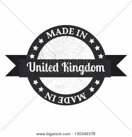 Made In U.k Badge. Made In United Kingdom Badge