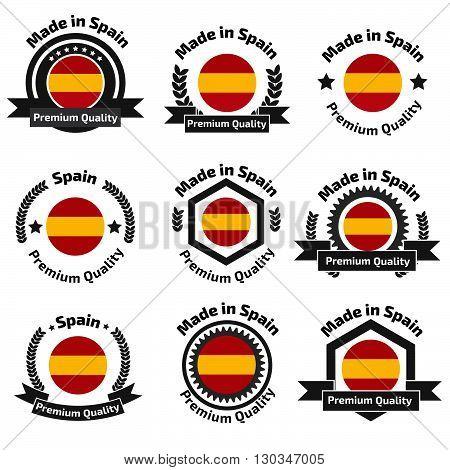Made In Spain Badge Set
